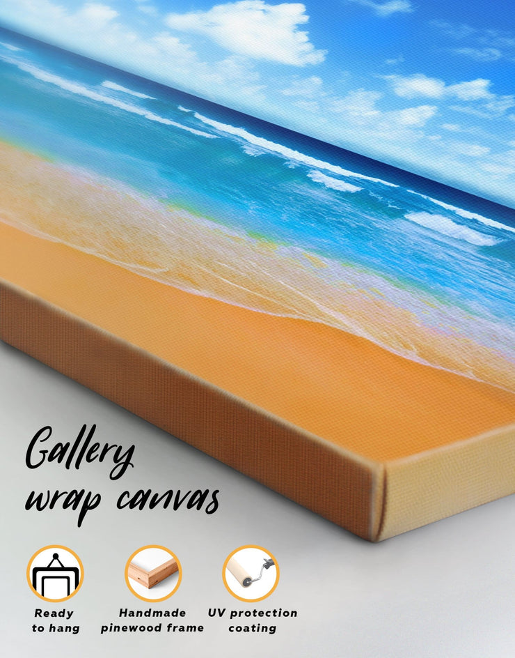 5 Panels Paradise Beach Wall Art Canvas Print - 5 panels Beach House beach wall art beach wall art for bathroom bedroom