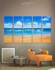 5 Panels Paradise Beach Wall Art Canvas Print