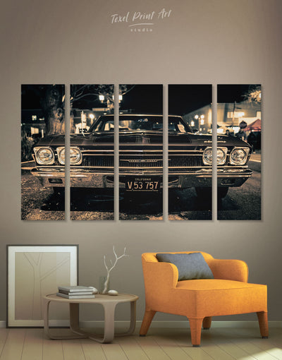 5 Panels Retro Stylish Car Wall Art Canvas Print - 5 panels bachelor pad Car garage wall art Hallway