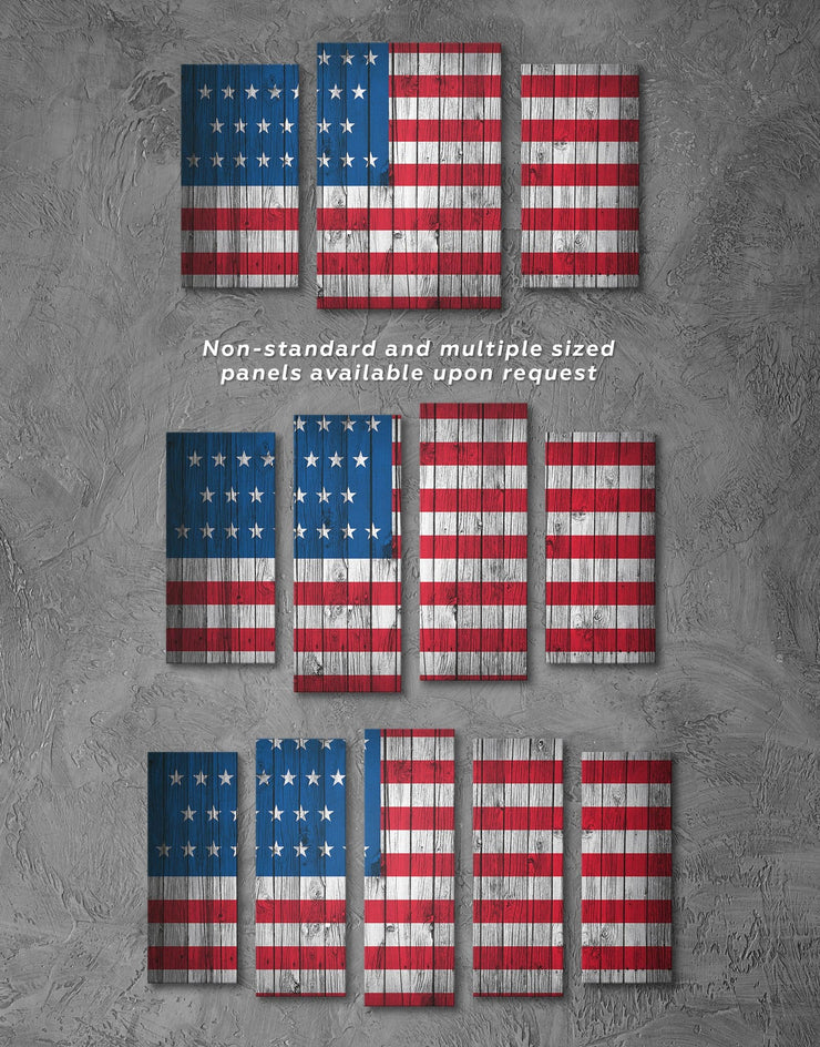 5 Panels The Star Spangled Banner US Flag Wall Art Canvas Print - 5 panels American flag Blue Flag Wall Art Living Room