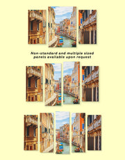 5 Panels Venice Street Wall Art Canvas Print