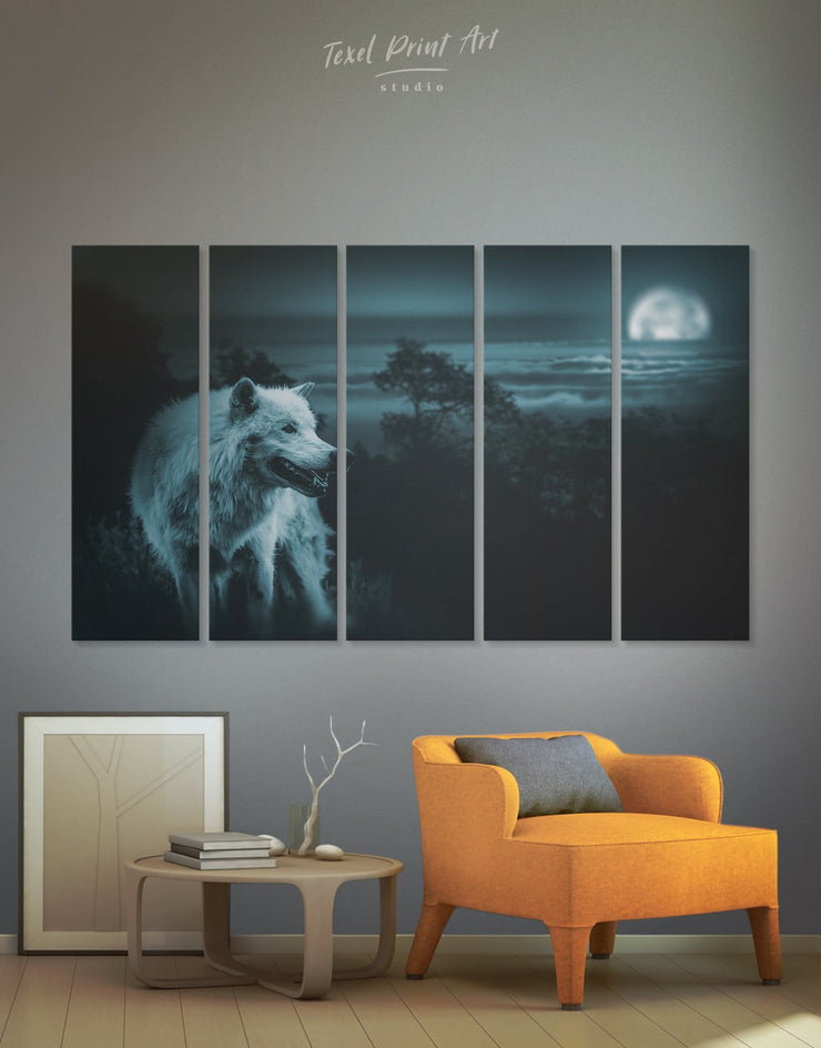5 Panels Wildlife Wall Art Canvas Print - 5 panels Animal bedroom Living Room living room wall art