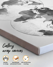 5 Pieces Abstract World Map Wall Art Canvas Print
