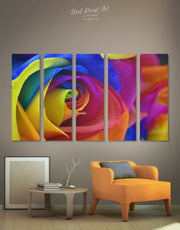 5 Pieces Beautiful Rose Wall Art Canvas Print