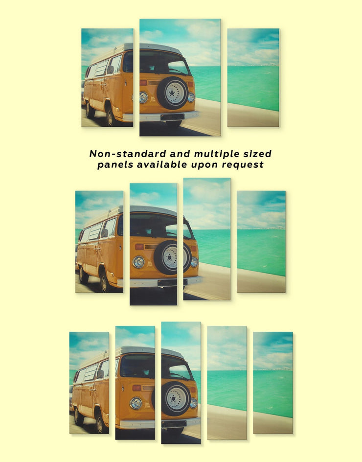 5 Pieces Camper Van Wall Art Canvas Print - 5 panels bedroom Car Living Room living room wall art