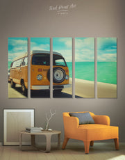 5 Pieces Camper Van Wall Art Canvas Print
