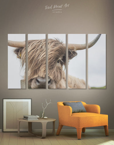 5 Pieces Cow Wall Art Canvas Print - 5 panels Animal bedroom cow canvas wall art Dining room