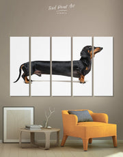 5 Pieces Dachshund Dog Wall Art Canvas Print