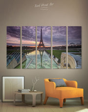 5 Pieces Eiffel Tower of Paris Wall Art Canvas Print