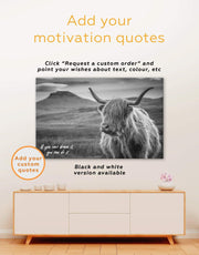 5 Pieces Highland Cow Wall Art Canvas Print