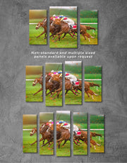 5 Pieces Horse Racing Wall Art Canvas Print