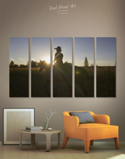 5 Pieces Horse Ride Wall Art Canvas Print - Canvas Wall Art 5 panels Animal Animals bedroom Hallway