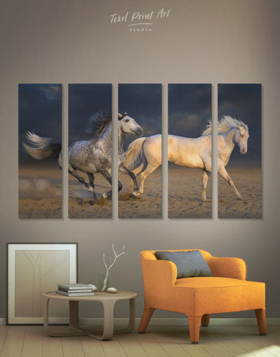 5 Pieces Horse Wall Art Canvas Print - 5 panels Animal Animals bedroom Dining room