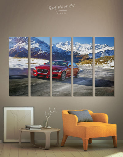 5 Pieces Jaguar XE SV Wall Art Canvas Print - 5 panels bachelor pad car garage wall art Hallway