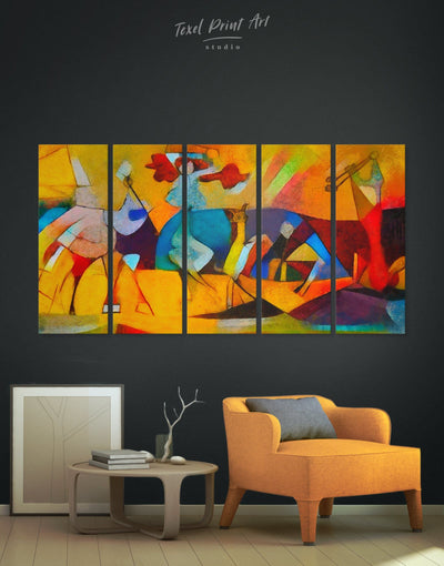 5 Pieces Joie De Vivre Picasso Wall Art Canvas Print - 5 panels Abstract art gallery wall bedroom Contemporary