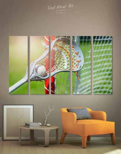 5 Pieces Lacrosse Wall Art Canvas Print - Canvas Wall Art 5 panels bachelor pad green Hallway lacrosse