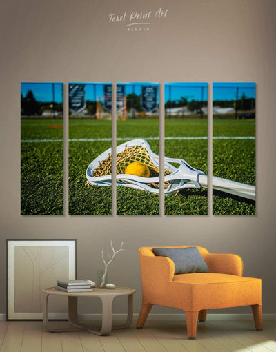5 Pieces Lacrosse Wall Art Canvas Print - Canvas Wall Art 5 panels green Hallway inspirational wall art Lacrosse