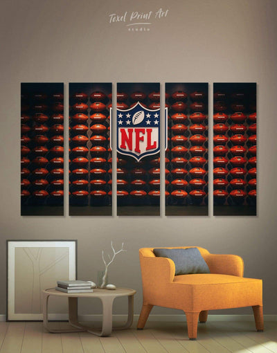 5 Pieces NFL Canvas Wall Art - Canvas Wall Art 5 panels bachelor pad Hallway Living Room NFL