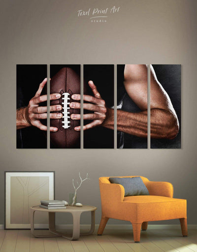 5 Pieces NFL Canvas Wall Art - Canvas Wall Art 5 panels bachelor pad Hallway Living Room manly wall art