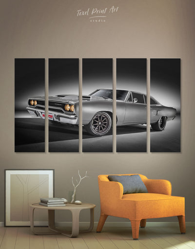 5 Pieces Plymouth Road Runner Wall Art Canvas Print - 5 panels bachelor pad bedroom Car garage wall art