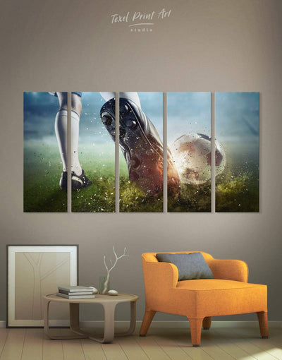 5 Pieces Soccer Wall Art Canvas Print - Canvas Wall Art 5 panels