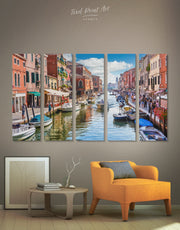 5 Pieces Venice City Wall Art Canvas Print