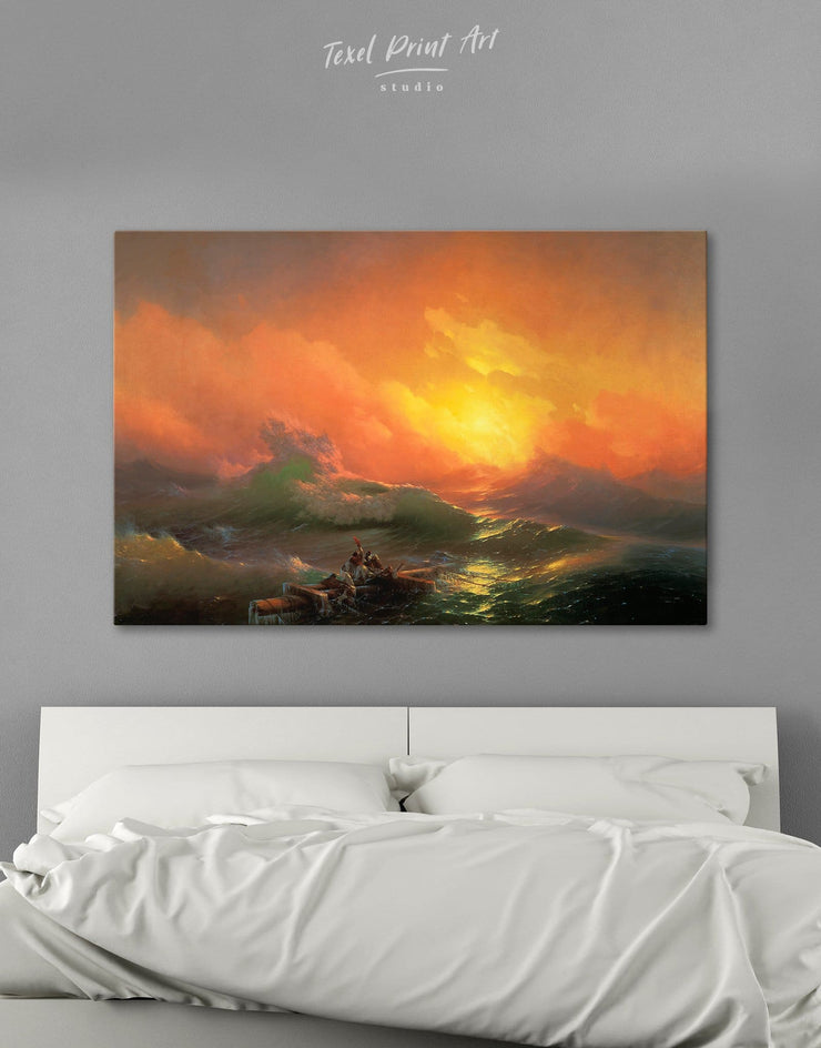 Aivazovsky The Ninth Wave Wall Art Canvas Print - 1 panel bedroom Hallway Living Room Nature