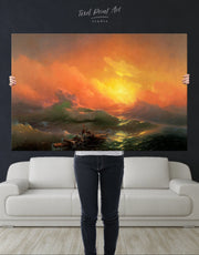 Aivazovsky The Ninth Wave Wall Art Canvas Print
