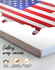 American Flag Wall Art Canvas Print
