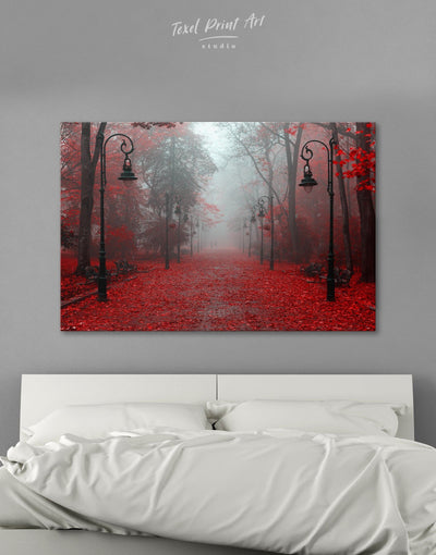 Autumn Forest Wall Art Canvas Print - 1 panel bedroom forest wall art Hallway landscape wall art