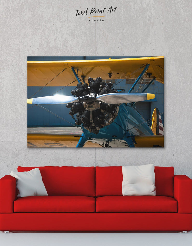 Aviation Wall Art Canvas Print - 1 panel airplane wall art bachelor pad bedroom Hallway