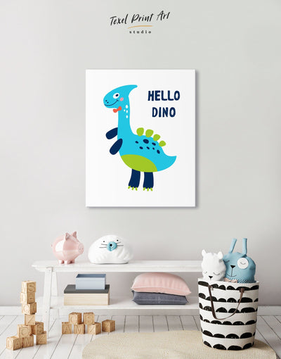 Baby Dinosaur Wall Art Canvas - Canvas Wall Art 1 panel Kids room kids wall art Nursery Nursery Wall Art