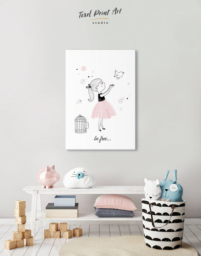 Baby Girl Nursery Wall Art Canvas - Canvas Wall Art 1 panel Kids room kids wall art Nursery Nursery Wall Art