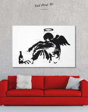 Banksy's Fallen Angel Wall Art Canvas Print