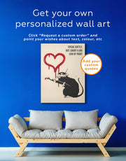 Banksy's Love Rat Wall Art Canvas Print