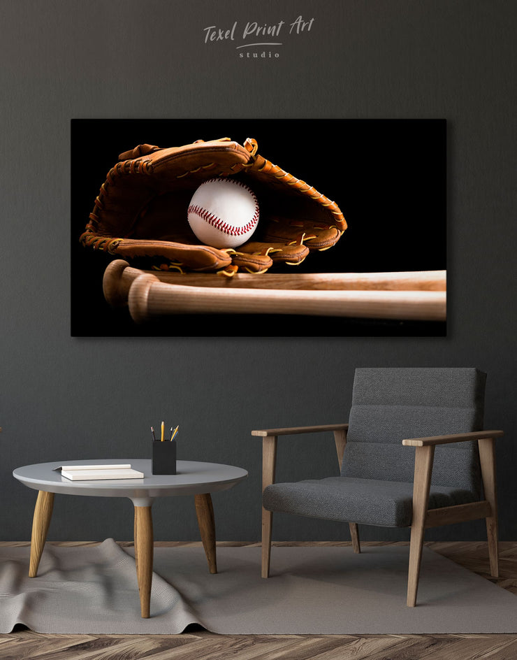 Baseball Bats Wall Art Canvas Print - 1 panel bachelor pad baseball baseball wall art bedroom