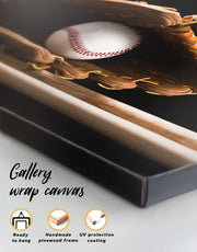 Baseball Bats Wall Art Canvas Print