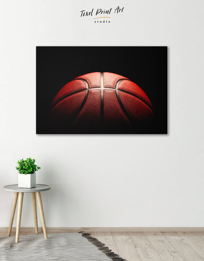 Basketball Wall Art Canvas Print - Canvas Wall Art 1 panel basketball black Hallway Living Room