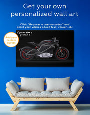 Black Widow's Motorcycle Wall Art Canvas Print