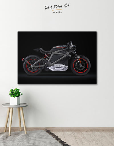 Black Widows Motorcycle Wall Art Canvas Print - Canvas Wall Art 1 panel bachelor pad bedroom black Hallway