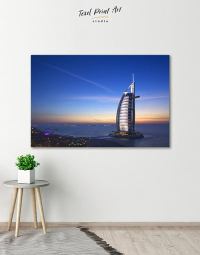 Burj Al Arab Jumeirah Wall Art Canvas Print - Canvas Wall Art 1 panel bedroom City Skyline Wall Art Cityscape Hallway