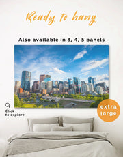 Calgary Skyline Wall Art Canvas Print