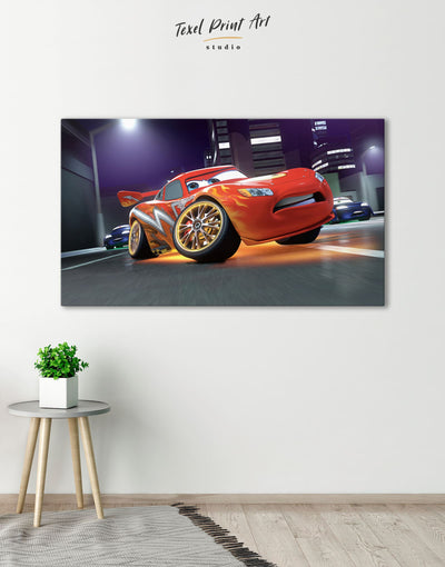 Cars 2 Wall Art Canvas Print - Canvas Wall Art 1 panel bedroom car Hallway Living Room
