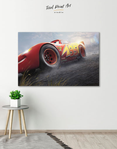 Cars 3 Wall Art Canvas Print - 1 panel bedroom Car disney Kids room