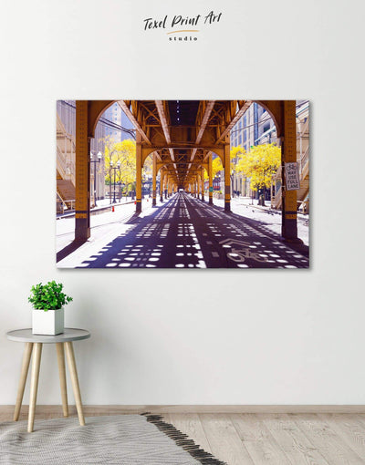 Chicago Wall Art Canvas Print - 1 panel bedroom City Skyline Wall Art Cityscape Hallway