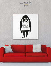 Chimp Laugh Now by Banksy Wall Art Canvas Print