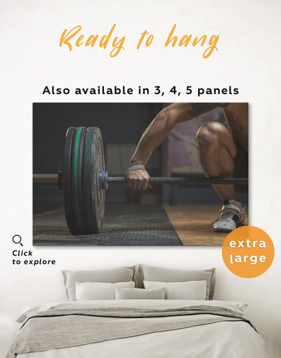Crossfit Wall Art Canvas Print - 1 panel Home Gym inspirational wall art manly wall art Motivational