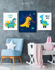 Dino Wall Decor Canvas