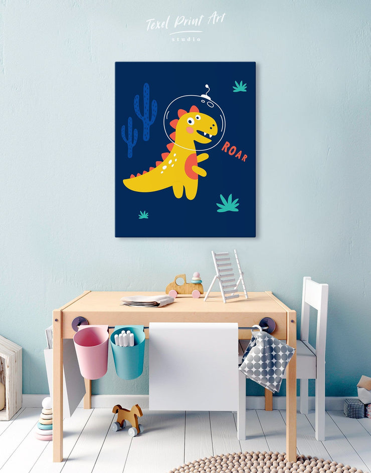 Dino Wall Decor Canvas - Canvas Wall Art 1 panel Kids room kids wall art Nursery Nursery Wall Art