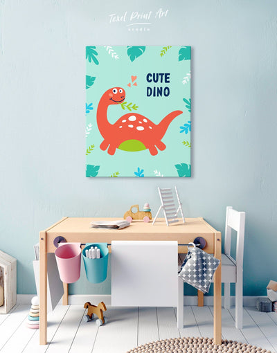 Dinosaur Nursery Art Canvas - Canvas Wall Art 1 panel Kids room kids wall art Nursery Nursery Wall Art